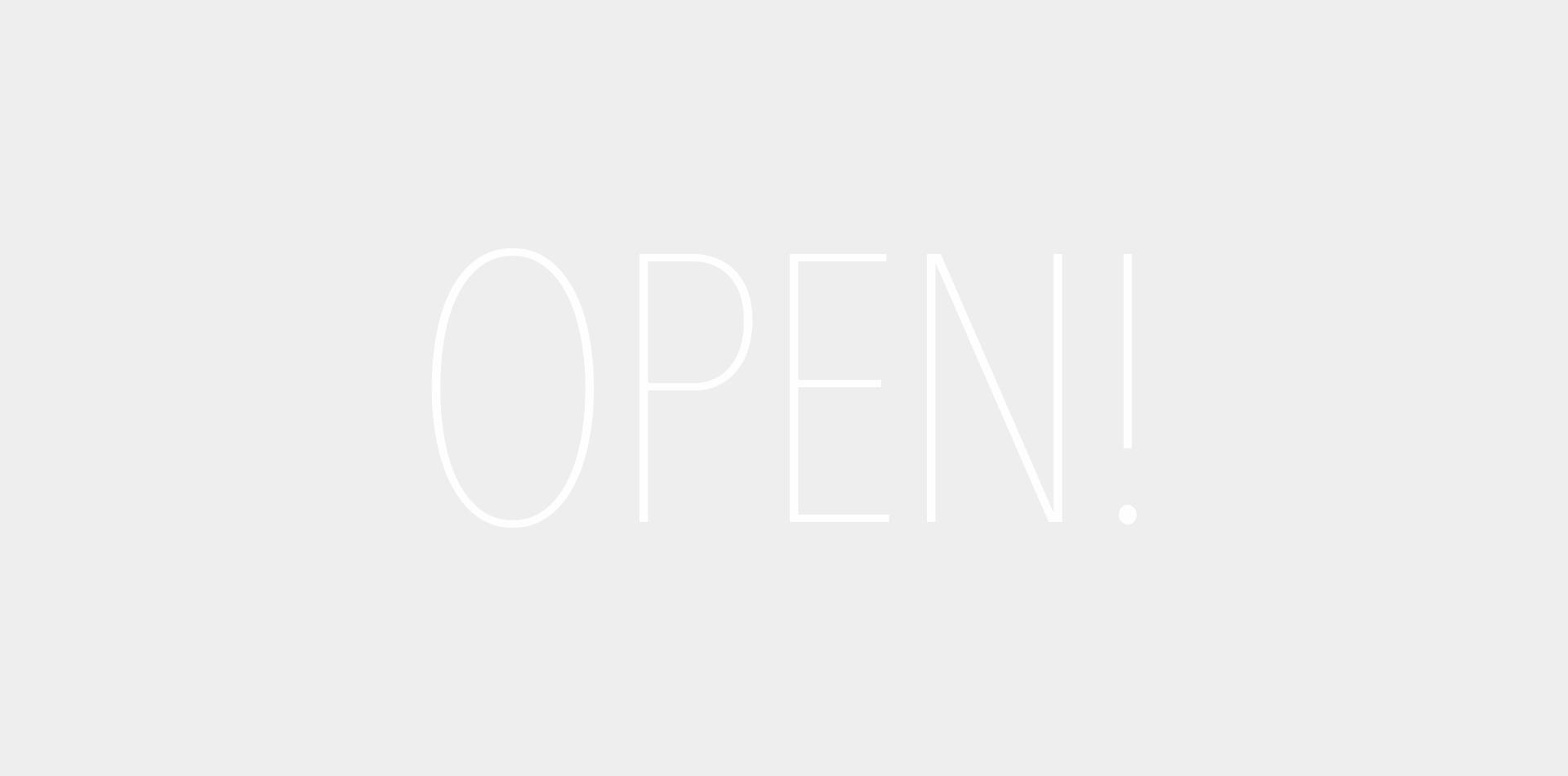 Website OPEN!